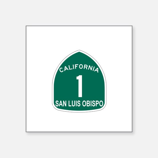 San Luis Obispo, California H Sticker (Rectangular