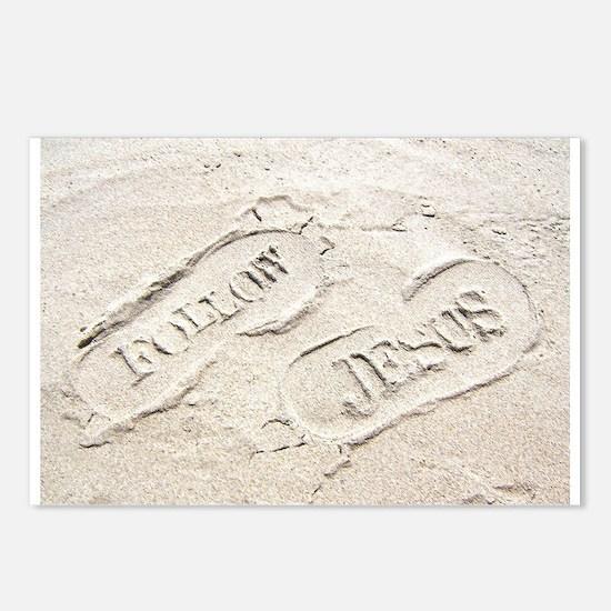 Sandy Footprints Postcards (Package of 8)