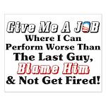 """""""Blame Obama"""" Poster"""