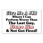 """Blame Obama"" Sticker (Rectangle)"