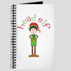 Head Christmas Elf Journal