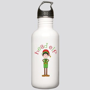 Head Christmas Elf Stainless Water Bottle 1.0L