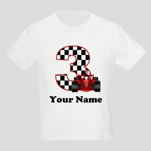 3rd Birthday Race Car Kids Light T-Shirt