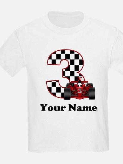 3rd Birthday Race Car T-Shirt