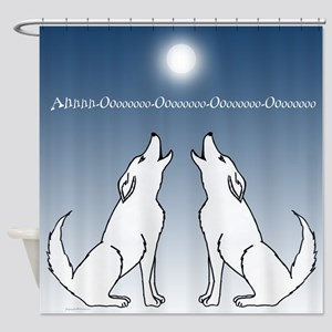 coyote howl Shower Curtain