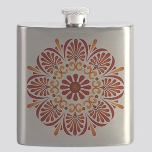 Red Mandala Flask