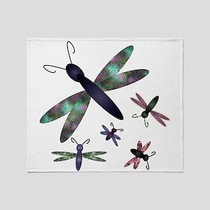 Dragonflies Throw Blanket