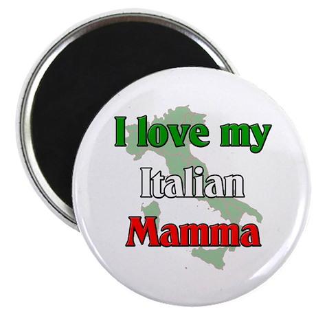"I Love My Italian Mamma 2.25"" Magnet (100 pack)"
