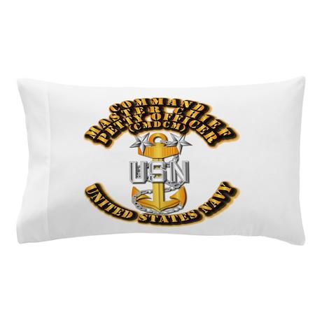Navy - Rank - CMDCM Pillow Case