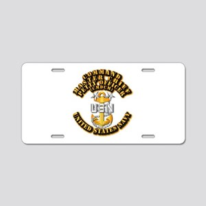 Navy - Rank - CMDCM Aluminum License Plate