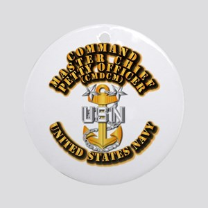 Navy - Rank - CMDCM Ornament (Round)