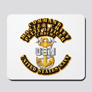 Navy - Rank - CMDCM Mousepad