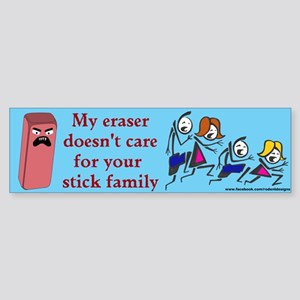 Eraser Stick Family Bumper Sticker