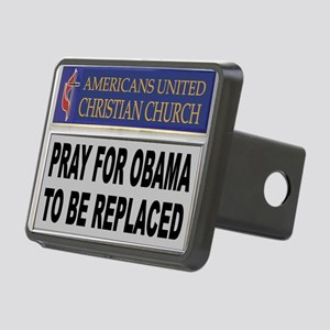 OBAMA PRAYER Rectangular Hitch Cover