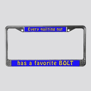 Humorous Quilting Nut License Plate Frame