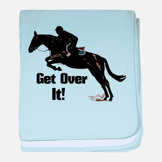 Get Over It! Horse Jumper baby blanket