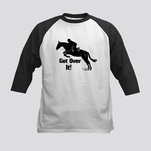 Get Over It! Horse Jumper Kids Baseball Jersey