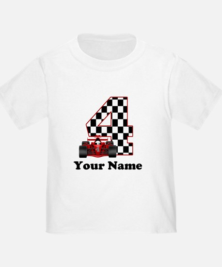 4th Birthday Race Car T