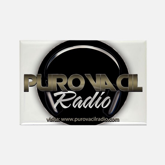 PuroVacilradio Logo Rectangle Magnet
