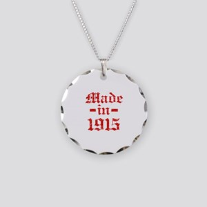 Made In 1915 Necklace Circle Charm