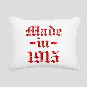 Made In 1915 Rectangular Canvas Pillow