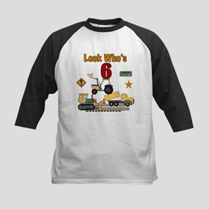 Construction 6th Birthday Kids Baseball Jersey