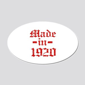 Made In 1920 20x12 Oval Wall Decal