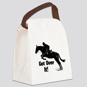 Get Over It! Horse Jumper Canvas Lunch Bag