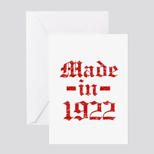 Made In 1922 Greeting Card