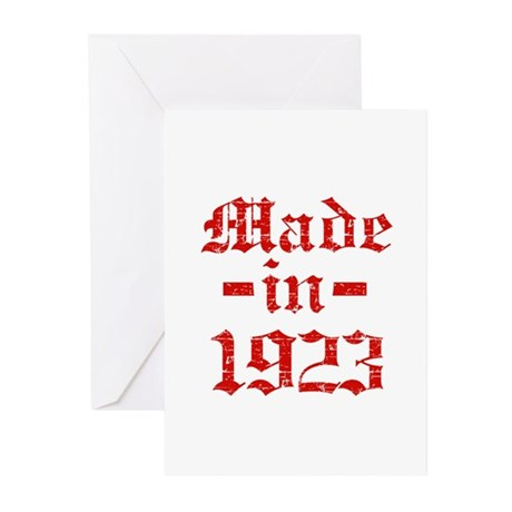 Made In 1923 Greeting Cards (Pk of 10)