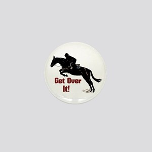 Get Over It! Horse Jumper Mini Button