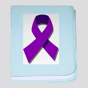 Purple Ribbon baby blanket