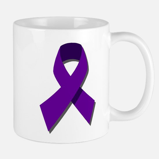 Purple Ribbon Mug