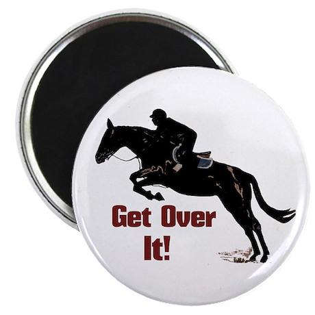 """Get Over It! Horse Jumper 2.25"""" Magnet (10 pack)"""