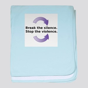 Break the silence baby blanket