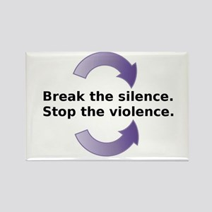Break the silence Rectangle Magnet