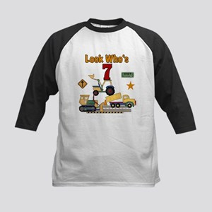Construction 7th Birthday Kids Baseball Jersey
