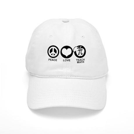 Peace Love Teach Math Cap