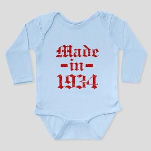 Made In 1934 Long Sleeve Infant Bodysuit