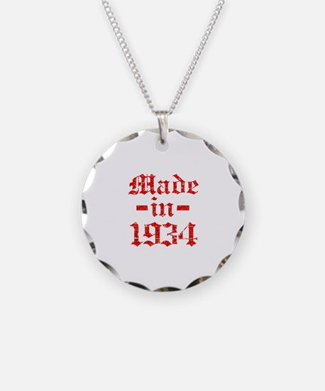 Made In 1934 Necklace