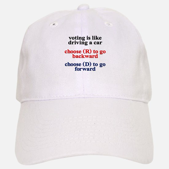 Democrat Voting/Driving Baseball Baseball Cap
