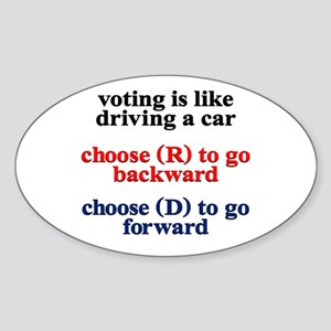 Democrat Voting/Driving Sticker (Oval)