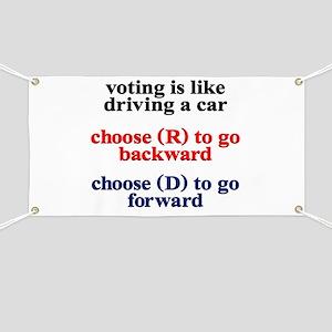 Democrat Voting/Driving Banner