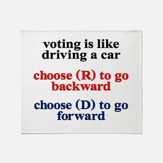 Democrat Voting/Driving Throw Blanket