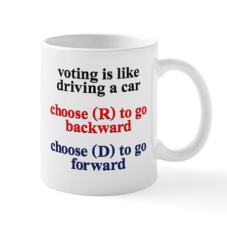 Democrat Voting/Driving Mug