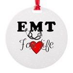 EMT For Life Round Ornament