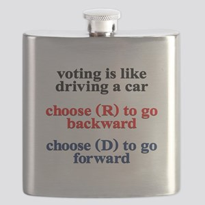 Democrat Voting/Driving Flask
