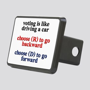 Democrat Voting/Driving Rectangular Hitch Cover