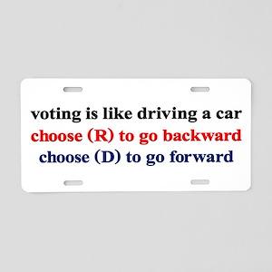 Democrat Voting/Driving Aluminum License Plate