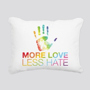 LGBT More Love Less Hate Rectangular Canvas Pillow